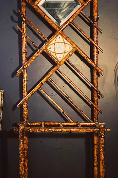 Stunning antique, French bamboo hall stand