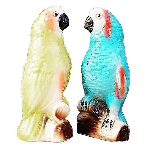 Italian ceramic parrots 1