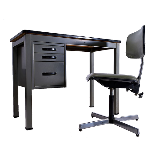 Steel Desk and Chair full 1