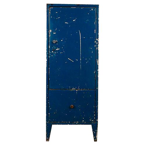 Vintage Metal Industrial Cabinet 1