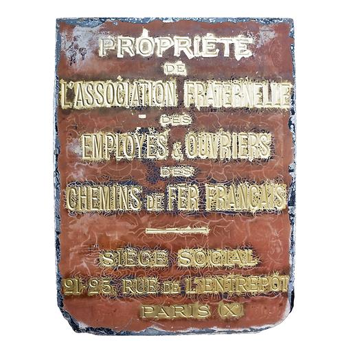 Paris Association Railway Plaques 1