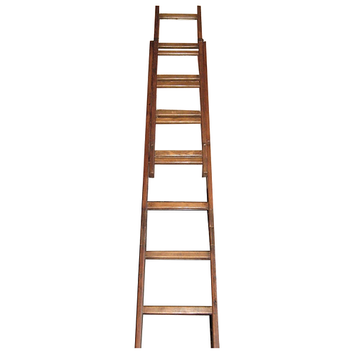 Wooden Extendable Ladder full 1