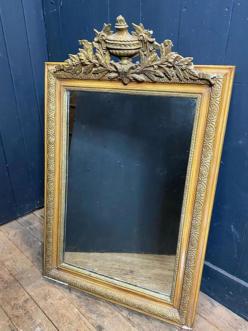 19th Century French Gilt Crested Louis Philippe mirror, lightly foxed.