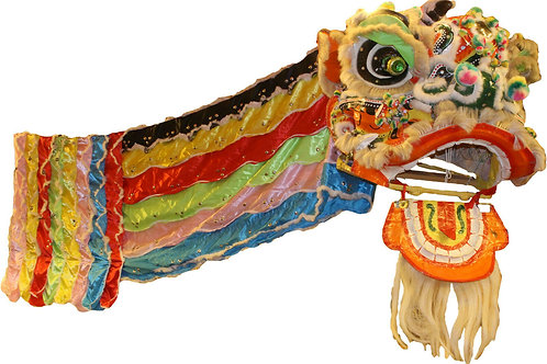 Vintage Chinese dragon mask with attached costume