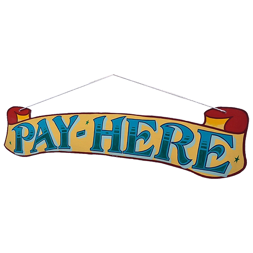 Fairground Pay here Sign 1