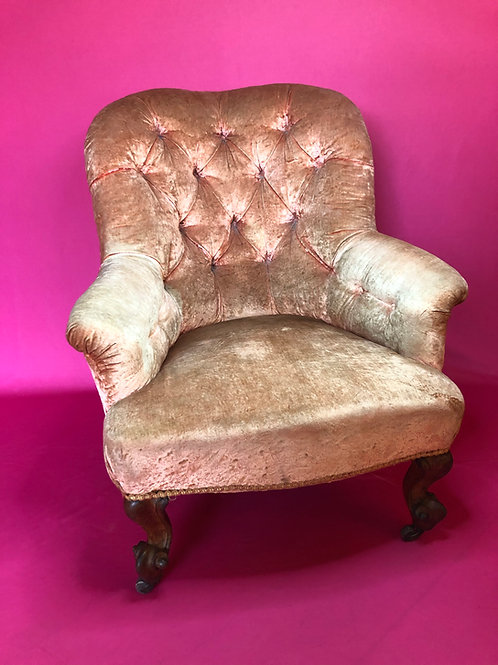Genuine country House antique Napoleon III Button back Armchair