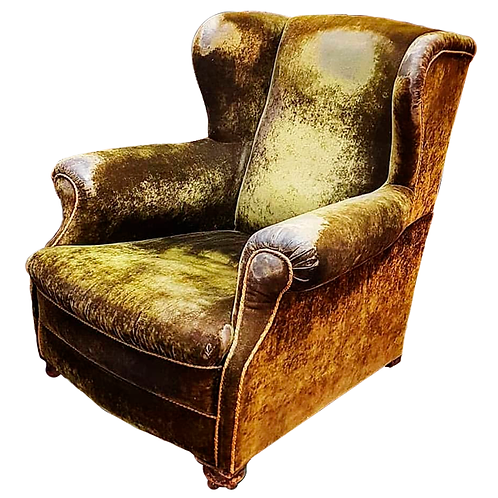Late Victorian high back library Gentleman's Chair 1