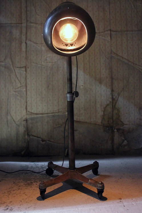 A truly unique studio floor lamp converted from a hairdressing salon dryer