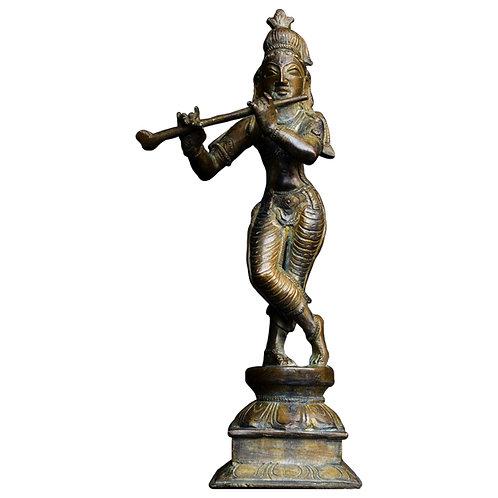 Bronze Indian Deity Lord Krishna 1