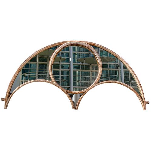 Vintage Cast Iron Crittall Window Frame Mirror Glass CIRCA 1870 1