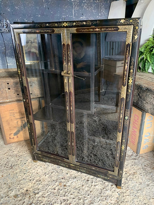 Black And Gilt Chinoiserie Cabinet