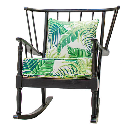 Classic Ebonised Rocking Chair 1