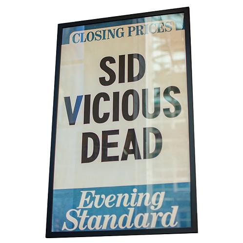 Sid Vicious Framed