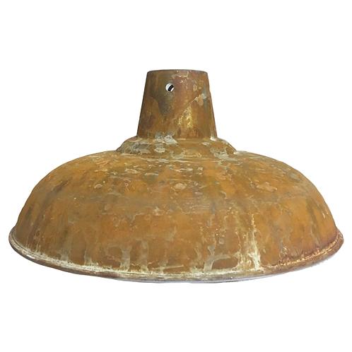 Enamel Metal Lampshade Industrial Rust 1