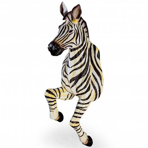 Life Size Running Zebra Wall Hanging