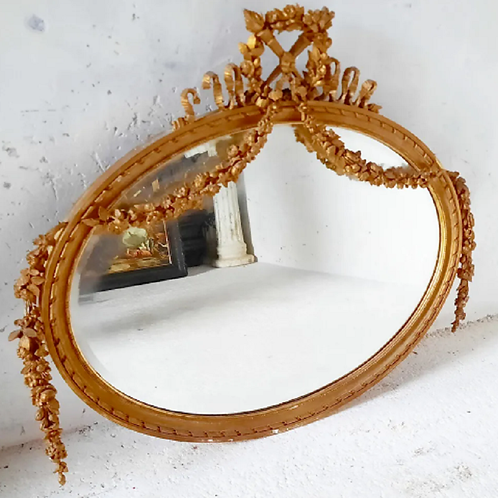 Regency style, gilt plaster and wood frame Mirror