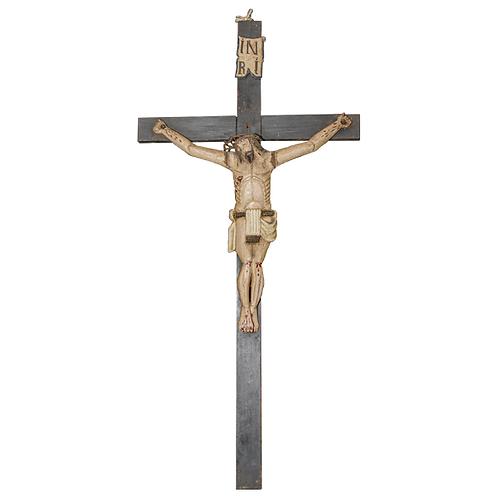 Primitive Czech Republic Christ Carved Figure 1