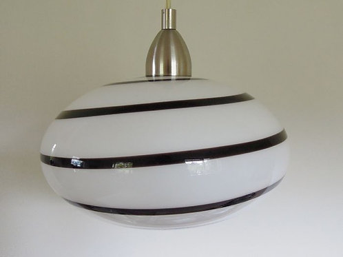 Stunning Vintage Eglo Hanging lamp in Zebra Pattern