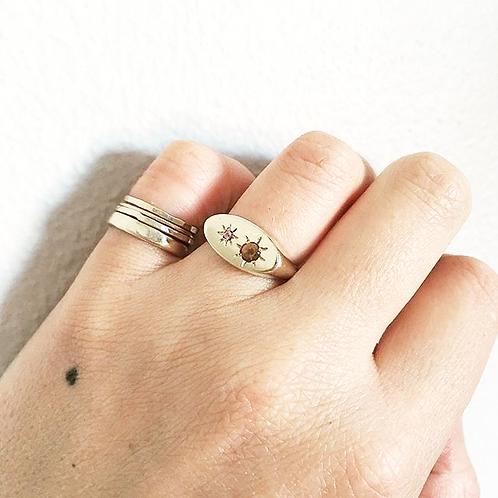 ovum ring with stones