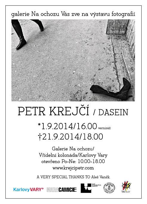Pozvánka - Výstava - Karlovy Vary - Dasein - 2014 - Petr Krejčí
