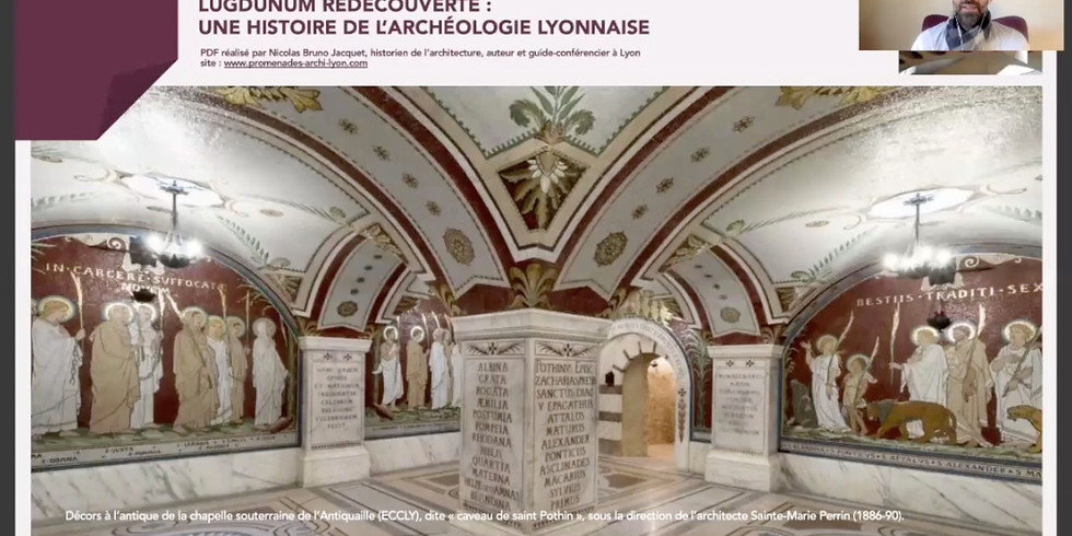 Visioconférence archive - LUGDUNUM REDÉCOUVERTE, UNE HISTOIRE DE L'ARCHÉOLOGIE LYONNAISE