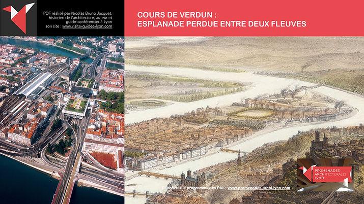 COURS DE VERDUN : ESPLANADE PERDUE ENTRE DEUX FLEUVES © www.promenades-archi-lyon.com