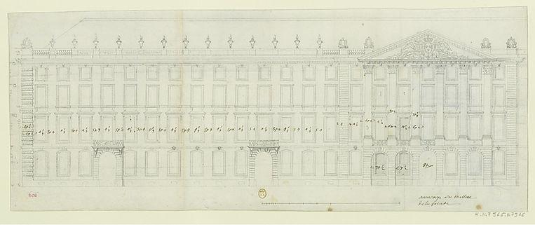 Plan Bellecour Robert de Cotte 1714