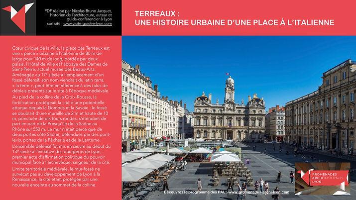 TERREAUX - UNE HISTOIRE URBAINE D'UNE PLACE À L'ITALIENNE - Nicolas Bruno Jacquet www.promenades-archi-lyon.com