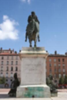 Statue équestre de Louis XIV place Bellecour