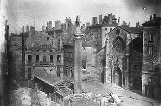 ancienne place des Cordeliers avant les travaux du Second Empire