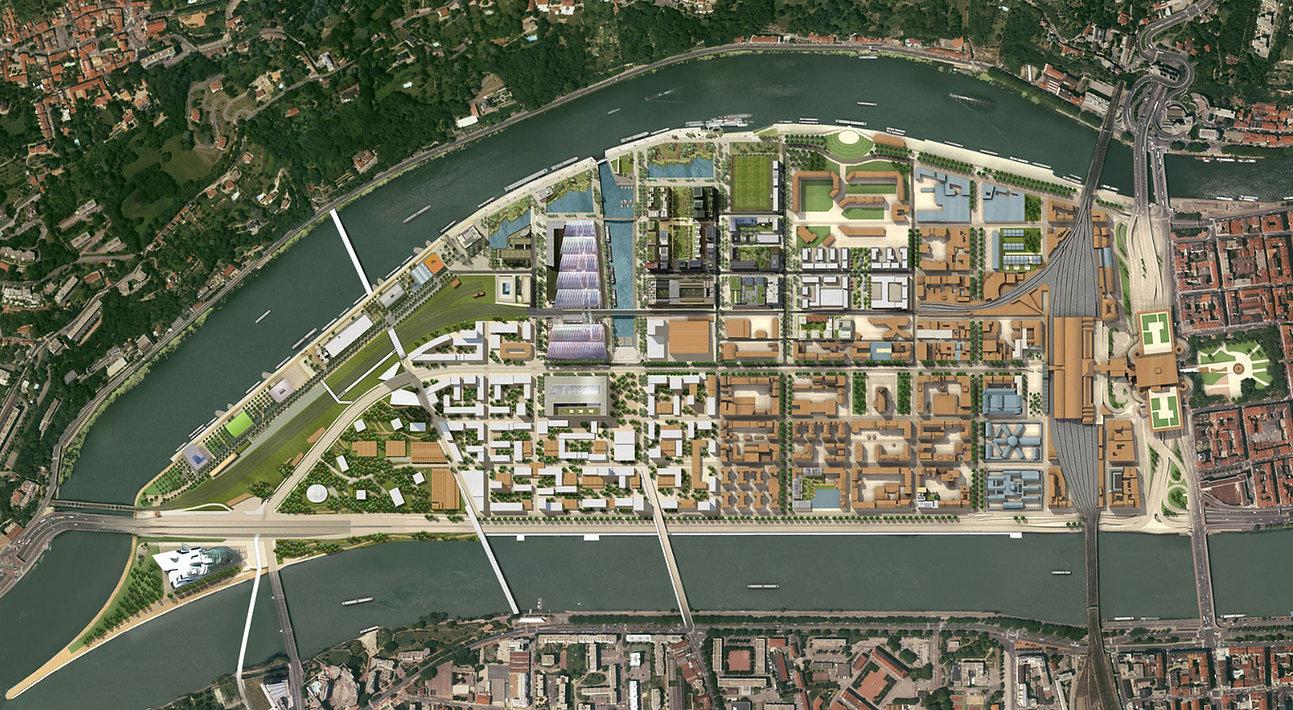 Plan d'urbanisme Lyon La Confluence 2016