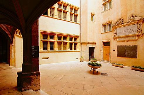 cour du musée de l'Imprimerie, quartier des Cordeliers Lyon