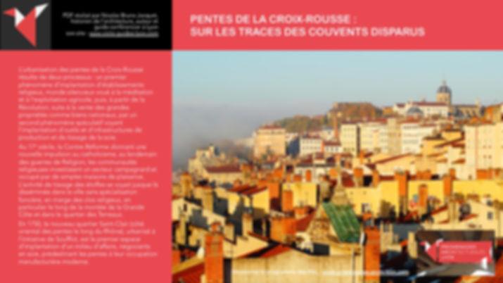PENTES DE LA CROIX-ROUSSE - SUR LES TRAC