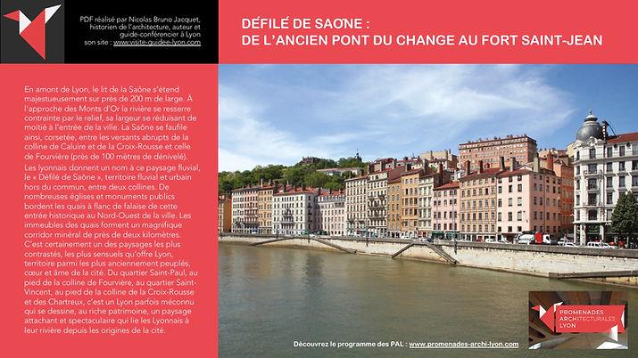 DÉFILÉ DE LA SAÔNE - DE L'ANCIEN PONT DU CHANGE AU FORT SAINT-JEAN - PAL LYON