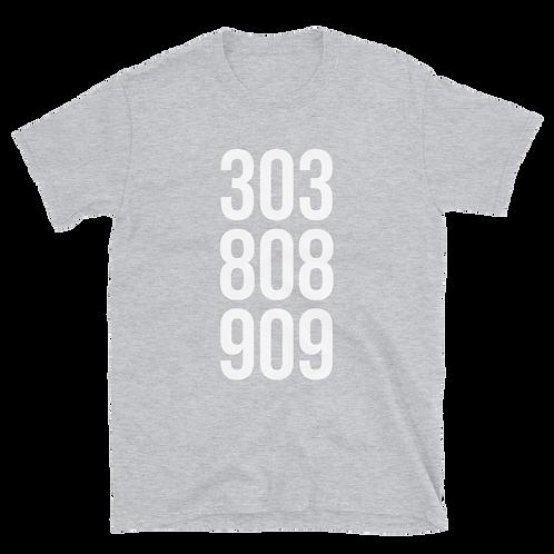 303, 808, 909 unisex T-Shirt