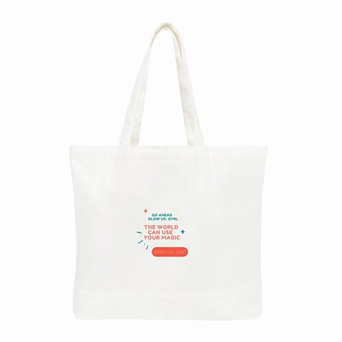 Glow Gyrl, Glow Classic Tote Bags - Large - White - Color