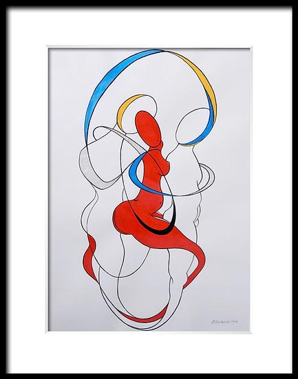 Love in Three Color #1 by Elena Iosilevich