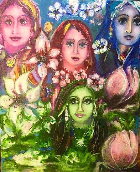 Four Face Flowers by Elena Zelenina