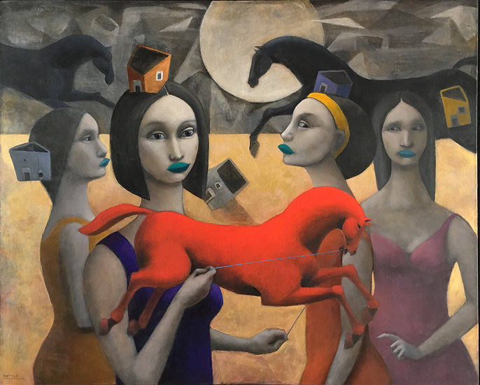Women with Horses by Hector Acevedo