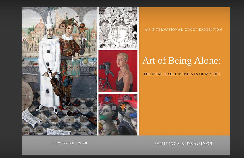 """""""Art Of Being Alone"""" catalog / HARDCOVER"""