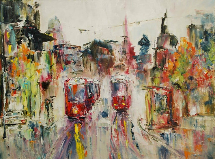 """Trams. Rainy St.Petersburg"" by Alexander Dudorov"