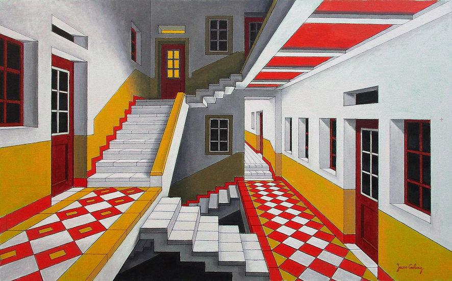 Interior in Red by Yacov Gabay