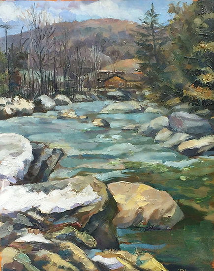 Jefferson, Vermont. Spring Creek by Boris Lyubner