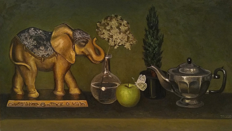 Still Life with Indian Elephant and Butterfly