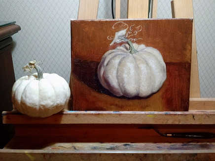 Are you ready to paint a pumpkin?
