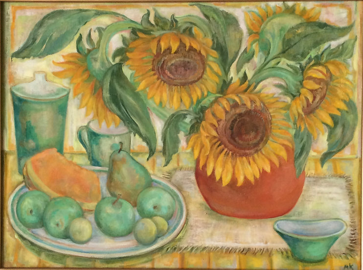 Still Life with Sunflowers by Marina Kalinovsky
