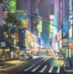 Boris Lyubner_Time Square_oil_24x24inche