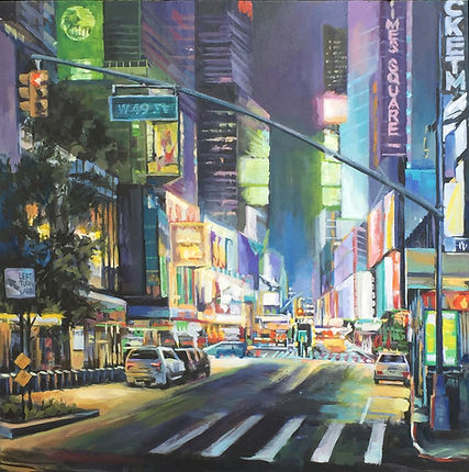 Boris Lyubner_Time Square_oil_24x24inche