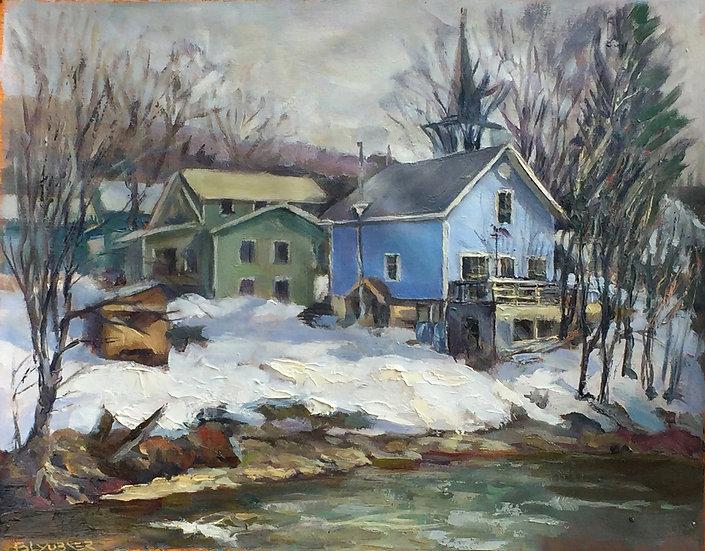 Jefferson, Vermont. Blue Cabin by Boris Lyubner
