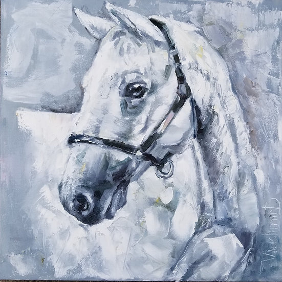 White Horse by Vladimir Demidovich